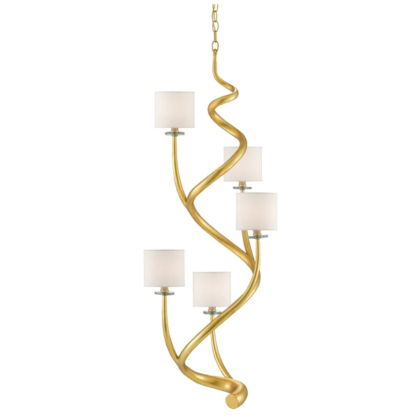 Alexander Chandelier, front view hanging style with lights on