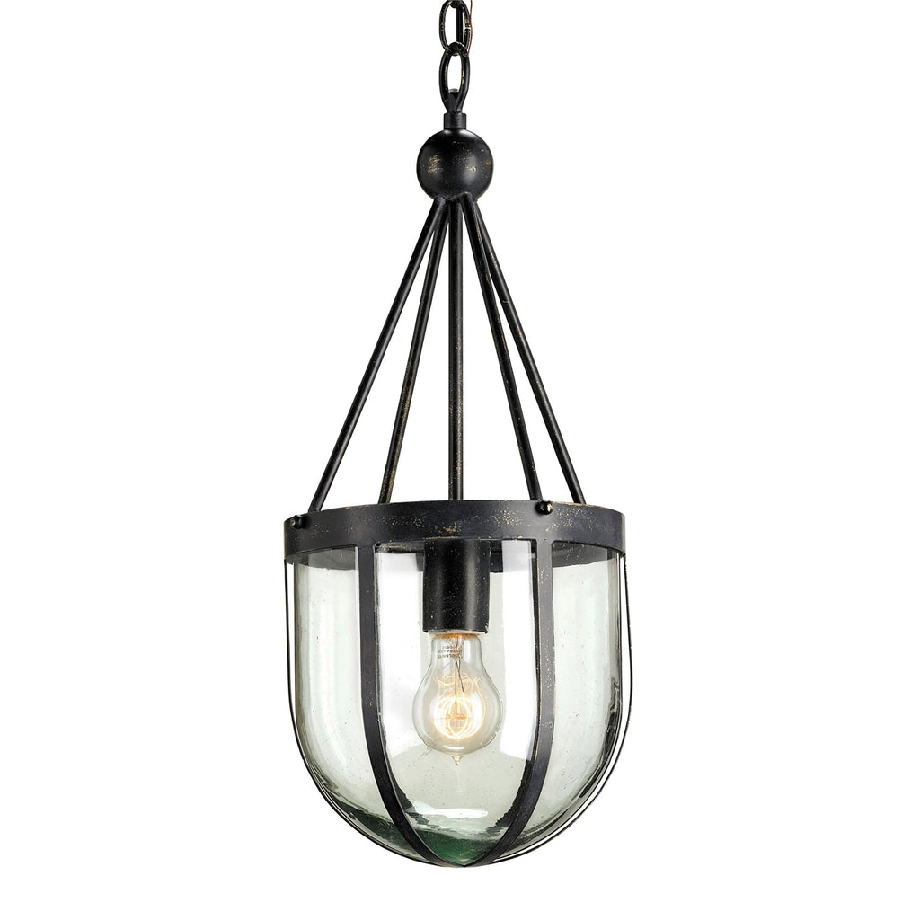 Barlow Pendant, front angled view, light on view