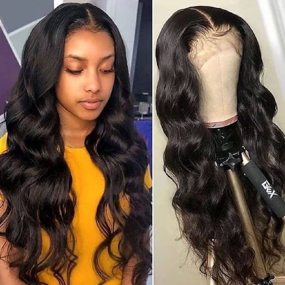Lace Front Human Hair Wigs Pre Plucked 13X4 Brazilian Body Wave