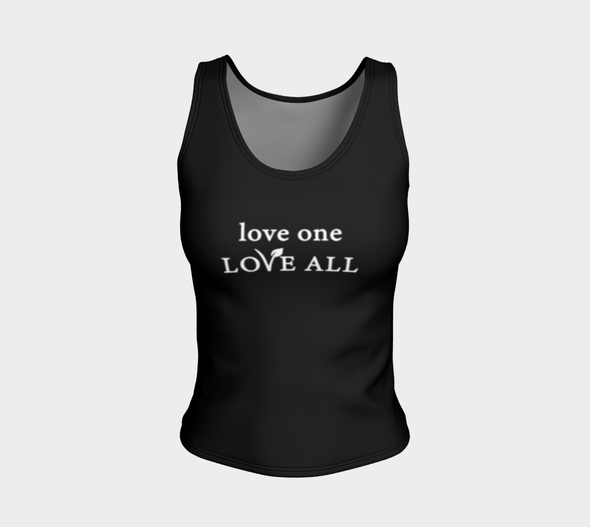 love one LOVE ALL - Fitted Tank