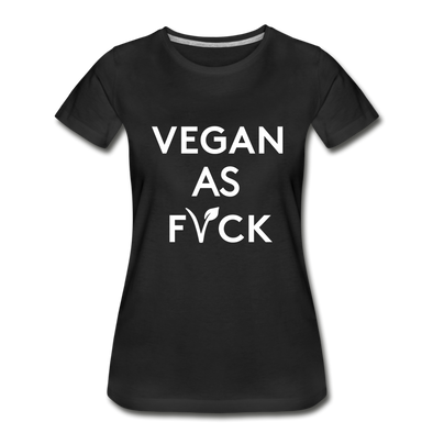 Women's 100% Organic Slim Fit Tee - black