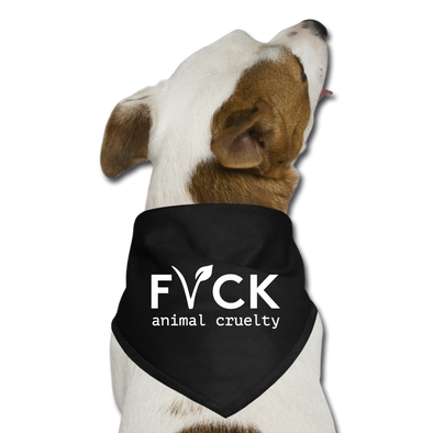 FVCK animal cruelty - Dog Bandana - black