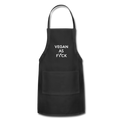 VEGAN AS FVCK - Adjustable Apron - black