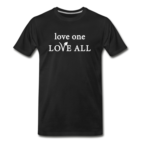 love one LOVE ALL - Men's Organic Cotton Tee - black