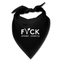FVCK animal cruelty - facial bandana - black
