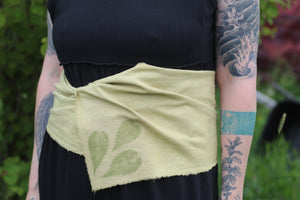 Nettle dyed silk scarf