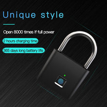 Load image into Gallery viewer, Smart Keyless Fingerprint Smart Padlock