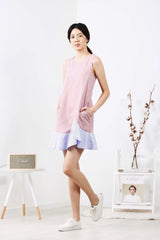 Stripes Frill Dress (Pink)