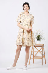 Floral Babydoll Dress (Cream)