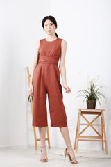 Front Twist Jumpsuit (Rust)