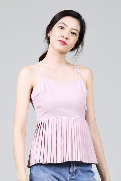 Pleated Cami Top (Pink)