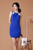 Cut In Bodycon Dress (Electric Blue)