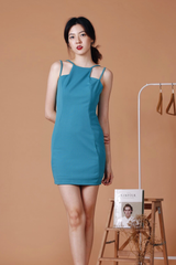 Cut In Bodycon Dress (Turquoise)