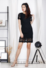 Crochet Lace Dress (Black)