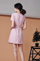 D-Ring Pleats Dress (Pink)