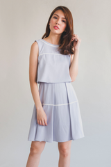 Layered Skater Dress (Grey)