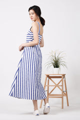Stripes Maxi Dress (Mid Blue)