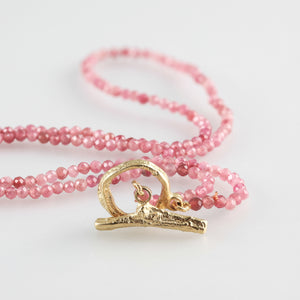 Twig collection w 9 ct clasp on pink Tourmaline