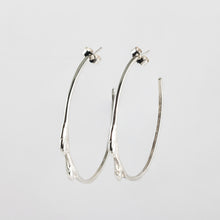 Load image into Gallery viewer, Twig hoops Sterling silver
