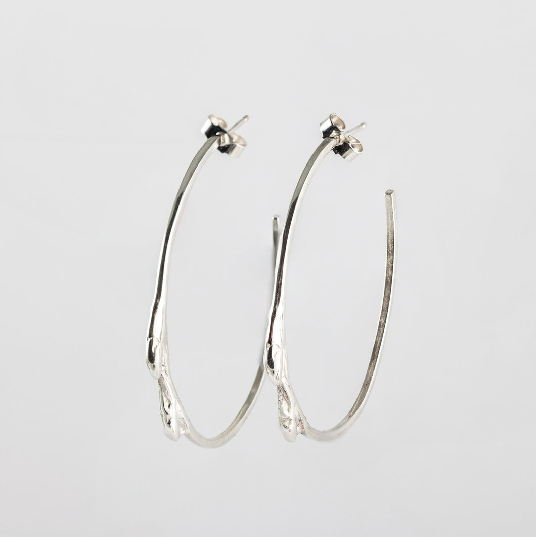 Twig hoops Sterling silver