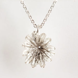Buy Sterling Silver Poppy Seed Heads On Silver Chain small