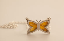 Load image into Gallery viewer, sterling-silver-butterfly-pendant-3-bell-chain