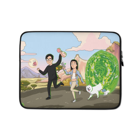 Custom Rick and Morty Portrait - Laptop Case - Mortyfication Get yourself painted as a Rick and Morty character. We create a digital portrait of you in the style of your favorite tv show
