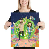 Custom Rick and Morty Portrait - Poster - Mortyfication Get yourself painted as a Rick and Morty character. We create a digital portrait of you in the style of your favorite tv show