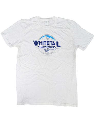 Whitetail Company Beer Tee White
