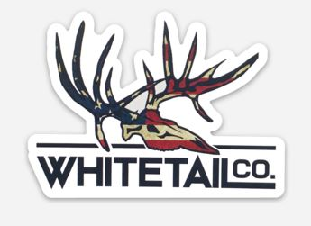 "American Flag Whitetail 3"" Decal"