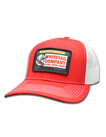 Whitetail Company Chew Hat Red/White