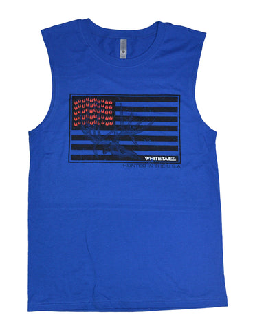 Whitetail Company Mens Flag Cutoff