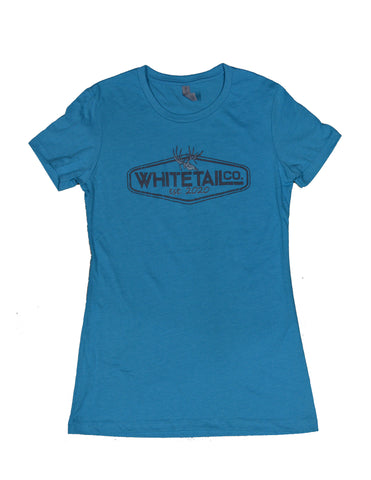 Whitetail Company Bondi Blue Womens Crew