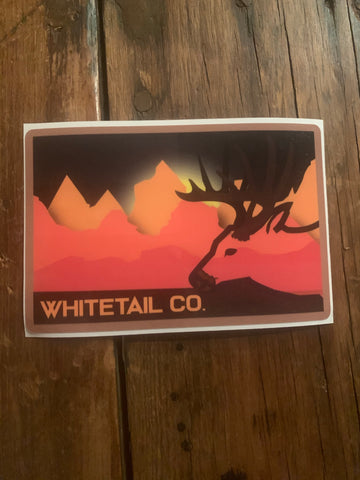 "Whitetail Sunset 5"" Decal"