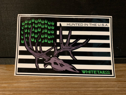 "6"" American Flag Whitetail Company Decal"