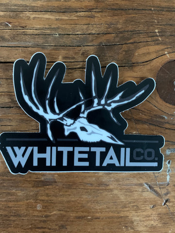 "3"" Black Whitetail Company Decal"
