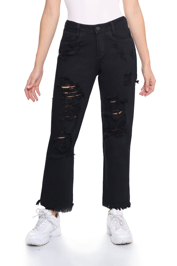 JEAN BOYFRIEND DESTROYED NEGRO TIRO MEDIO REF. 15629