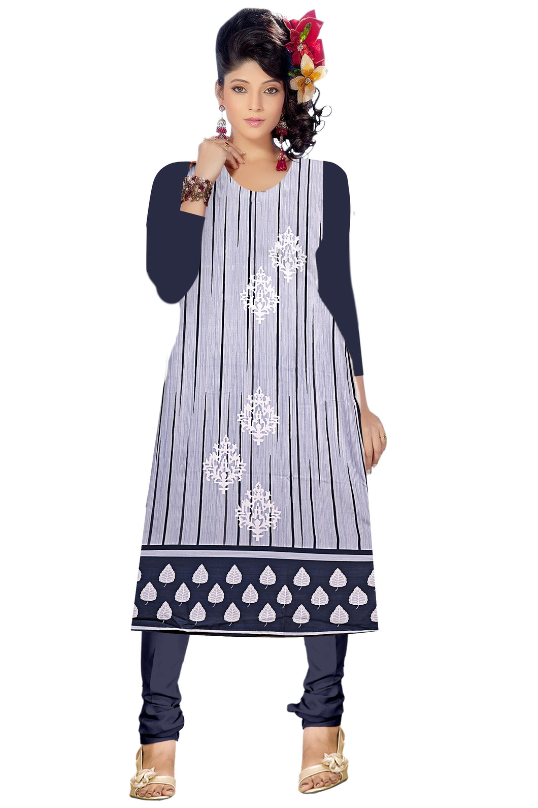 Full Sleeve Indian Kurti - Abstract Print 2 - ForHar Closet