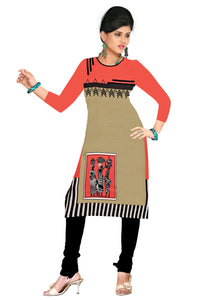 3/4 Sleeve Indian Dress Abstract print 4 (Top Only) - ForHar Closet