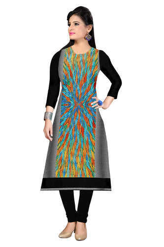 Copy of 3/4 sleeve Indian Dress Abstract Print 10 (Top Only) - ForHar Closet