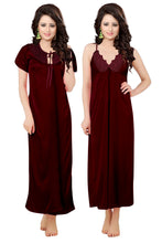 Load image into Gallery viewer, V-Neck Satin Nightwear Two Piece - ForHar Closet
