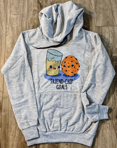 Milk & Cookie Print Grey Fall/Winter Printed Hoodie - ForHar Closet