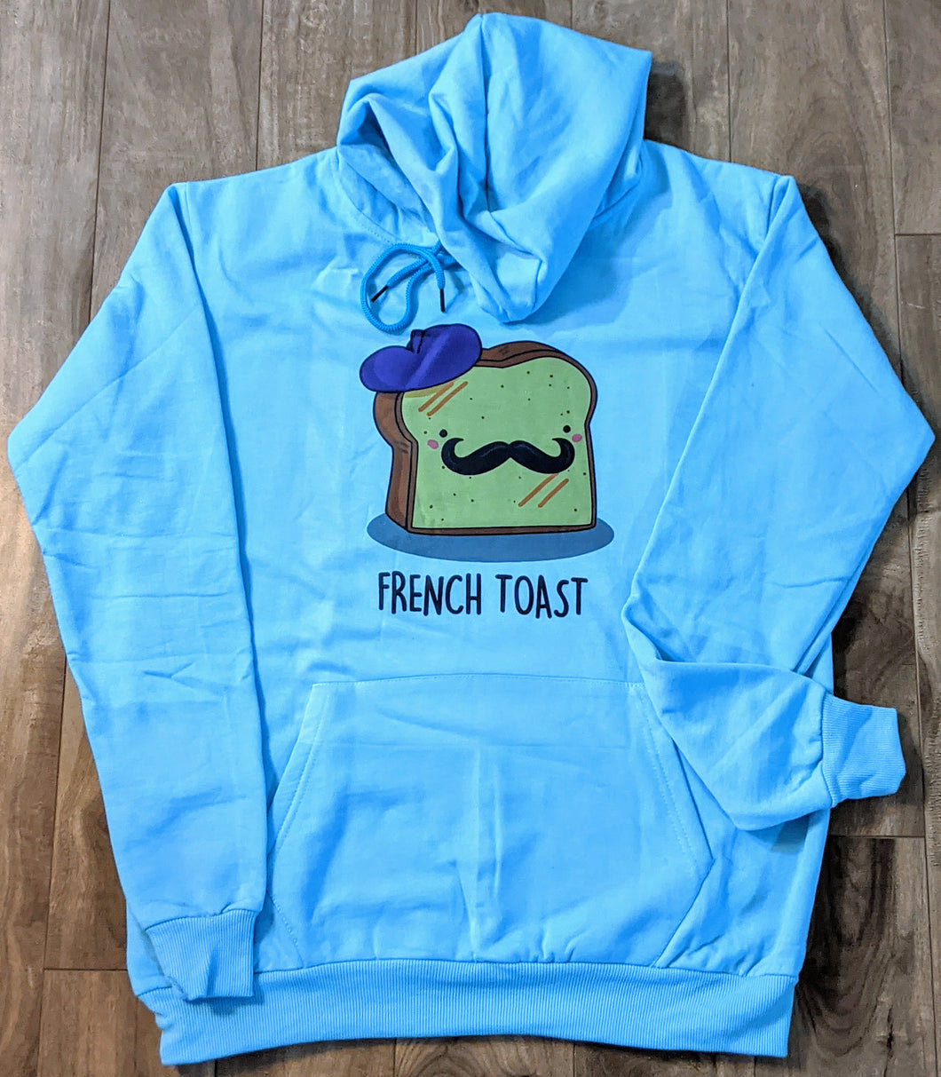 French Toast Blue Fall/Winter Printed Hoodie - ForHar Closet