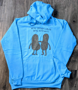 Peanut Buddies Blue Fall/Winter Printed Hoodie - ForHar Closet