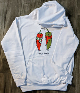 Chilly Peppers White Fall/Winter Printed Hoodie - ForHar Closet