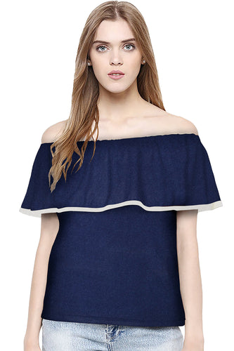 Off shoulder ruffled hem top - ForHar Closet
