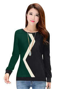 Full Sleeve Emerald top with Banded Sleeves and waist - ForHar Closet
