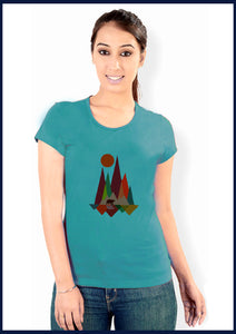 Scenic painting Print T-shirt - ForHar Closet