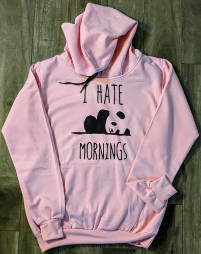 Sleepy Panda Print Pink Fall/Winter Printed Hoodie - ForHar Closet