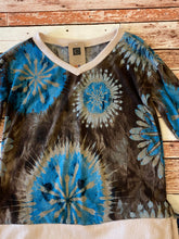 Load image into Gallery viewer, HM Vneck Brown Mix Top